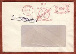 Geschaeftspapiere, Absenderfreistempel, Kiesewetter Mess-Instrumente, Wegkarte, 8 Rpfg, Leipzig 1933 (91069) - Allemagne