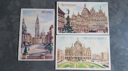 Lot 3x Postkaart Postkaarten Antwerpen Anvers - Antwerpen