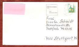 Brief, Wallfahrtskapelle Altoetting, MS Braunschweig Stadt Heinrich Des Loewen, Nach Stuttgart 1990 (91071) - [7] República Federal