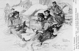 CPA Guerre 14 Fouqueray Tranchées Yser Jeu De La Mort Et Du Hasard - Guerra 1914-18