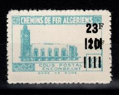 Algerie - Variete Colis Postaux N** Luxe YV 185 Sans Surcharge Contrôle - Paquetes Postales