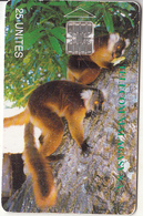 MADAGASCAR - Lemurs Of Madagascar(Telecom Malagasy), Used - Madagascar