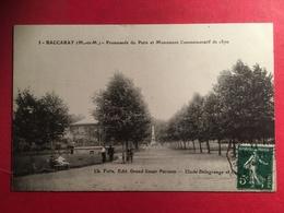 Baccarat Promenade Du Patis Et Monument Commémoratif De 1870 TAD 1911 En TBE - Baccarat