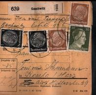 ! 1943 Paketkarte Deutsches Reich, Gaschwitz Nach Rossla , Zusammendrucke - Briefe U. Dokumente