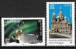 France 2003 Service N° 128/129 Neufs UNESCO à La Faciale - Service
