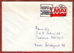 Brief, 1. Mai, MS Kehl Nachbarstadt Von Strassburg, Nach Stuttgart 1990? (91082) - [7] República Federal