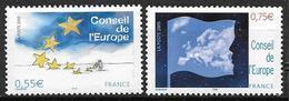 France 2005 Service N° 130/131 Neufs Conseil De L'Europe à La Faciale - Service