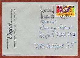 Brief, Jugend Forscht, MS Boot 91 Duesseldorf, Nach Stuttgart 1990 (91083) - [7] República Federal