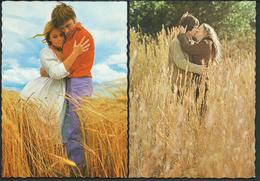 2 Postcards - Couples In Grain - Paare