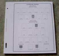 Feuilles Album ALLEMAGNE EMPIRE (60 Feuilles) Avec Page De Garde (Qualité Professionnelle) - Albums & Reliures