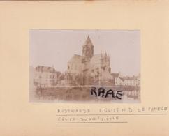 LOT DE 2 PHOTOS ANCIENNES,1880,BELGIQUE,FLANDRE OCCIDENTALE,AUDENARDE,OUDENAARDE,RARE,SUR LE MEME CARTON,RECTO VERSO - Orte