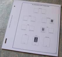 Feuilles Album ALLEMAGNE Z. FR. BADE RHENANIE-PAL. WURTEMB. (10 Feuilles) Et 4 Pages De Garde (Qualité Professionnelle) - Albums & Reliures