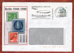 Infopost, Schloss Rastatt, Absenderstempel Sieger Zeppelin- Und Flugpost Lorch 302, 1995 (91086) - [7] República Federal