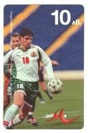 BULGARIA - Prepaid - Mtel - Footbal 10lv - Georgi Ivanov - Bulgaria
