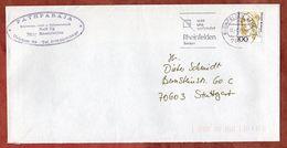 Brief, Von Oranien, MS Rheinfelden, Nach Stuttgart 1996 (91090) - [7] República Federal