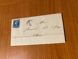 LETTRE DU 19/09/1839 DE DOLE DU JURA  PC 1109 Pour SELLIERES  ( Port Offert ) - 1849-1876: Classic Period