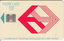 CAPE VERDE - Telecom Logo(red), First Issue 100 Units, CN : C3C043247, Used - Cap Vert