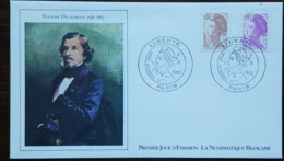 FDC 1982 - YT N°2239, 2242 - LIBERTE DE DELACROIX - PARIS - 1980-1989