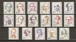 Allemagne Berlin 1986/9 - Femmes Célèbres - Série Complète De 17 Timbres MNH - Valeur Catalogue 79 € - Nuevos
