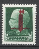 Italia  Repubblica Sociale 1944 Sass.490 **/MNH VF - 1944-45 République Sociale