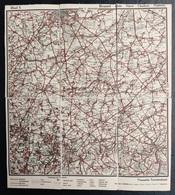 Ancienne Carte Geographique (annees '20) VTB Bruxelles Namur Charleroi Huy Nivelles Waterloo Tervuren Overijse Ohain - Cartes Géographiques