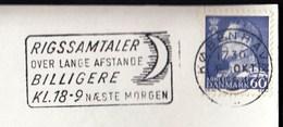 Denmark Copenhagen 1964 / RIGSSAMTALER Over Lange Afstande BILLIGERE / New Moon / Machine Stamp, ATM, Frankotyp - Affrancature Meccaniche Rosse (EMA)