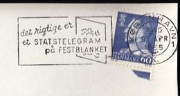 Denmark Copenhagen 1965 / Det Rigtige Er Et STATSTELEGRAM Pa FESTBLANKET / Machine Stamp, ATM, Frankotyp - Affrancature Meccaniche Rosse (EMA)