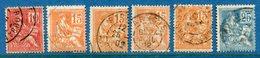 France - YT N° 116 à 118 - Oblitéré - 1900 à 1924 - Francia