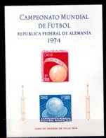 1974 Chilie Football World Cup Germany 1974 - Special SS Imperforated MNH OG MiNr. 804 - 805 GB Sport - Chile