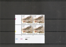 Belgique - Oiseaux - Buzin ( 2792 En Bloc De 4 Millésimé XXX -MNH) - Belgique