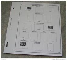 Feuilles Album COMORES - ANJOUAN - GDE COMORE - MOHELI (16 Feuilles) Avec 4 Pages De Garde (Qualité Professionnelle) - Albums & Reliures