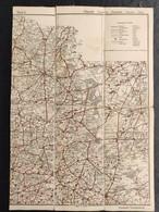 Oude Geografische Kaart (Jaren '20) VTB Hasselt Hageland Aarschot Diest Turnhout Leopoldsburg Kamp Westerlo Gheel Poppel - Cartes Géographiques
