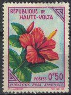 Haute Volta 1963 Oblitéré Used Plante Fleurs Hibiscus Rosa Sinensis SU - Haute-Volta (1958-1984)