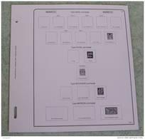 Feuilles Album MAROC (35 Pages) Avec Page De Garde (Qualité Professionnelle) - Albums & Reliures