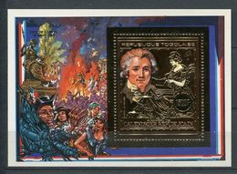 258 - TOGO 1989  - BF Timbre Or - Revolution Francaise Philex - Neuf ** (MNH) Sans Charniere - Togo (1960-...)