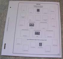 Feuilles Album MEMEL (7 Feuilles) Avec Page De Garde (Qualité Professionnelle) - Albums & Reliures