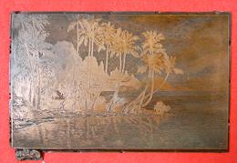 TOP RARE Pierre Loti Gravure Taille Douce Sur Cuivre Rouge Ile De Moorea Afareahitu 1872 Pour Imprimer Livre Polynésie - Prints & Engravings