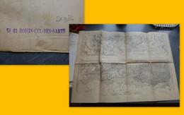Guerre 14-18, Carte Etat Major ROISIN, CUL-DES-ESSARTS ; PAP09 - Geographical Maps
