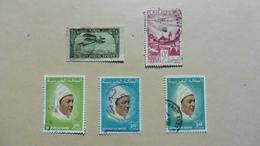Afrique > Maroc :Poste Aérienne  :5 Timbres Oblitérés - Maroc (1956-...)