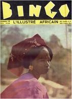 BINGO L'Illustré Africain N°13/1954- 26 Pages Format 31x24cm- Dakar, Rebeuss, Josephine Baker,Tivaouane, Boxe - Livres, BD, Revues