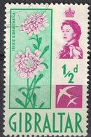 Gibraltar 1960 Oblitéré Used Plante à Fleurs Iberis Gibraltarica Candytuft SU - Gibraltar