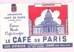 Buvard Café De Paris Panthéon - Café & Thé