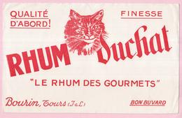 Buvard Alcool Rhum Du Chat Bourin Tours - Liqueur & Bière