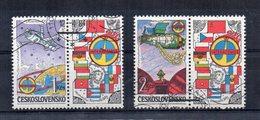 CECOSLOVACCHIA - 1984 - Lotto 2 Francobolli Tematica Spazio - Usati - (FDC20049) - Cecoslovacchia