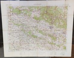 Carte Topographique Militaire UK War Office 1915 World War 1 WW1 Charlesville Mezieres Sedan Rocroi Hirson Sugny Rethel - Cartes Topographiques