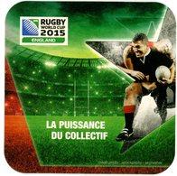 Rugby World Cup 2015. England. La Puissance Du Collectif. France. - Sous-bocks