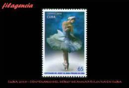 CUBA MINT. 2015-04 CENTENARIO DEL DEBUT DE ANNA PAVLOVNA EN CUBA. BALLET - Cuba