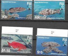 FIJI, 2019, MNH, FISH, GROUPERS, 4v - Peces