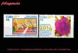 CUBA MINT. 2014-43 CONGRESO MÉDICO INTERNACIONAL SOBRE EL CONTROL DE LA DIABETES - Cuba