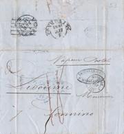 1853 Piego Da Marsiglia A Livorno, Per Vapore Postale. - Italia